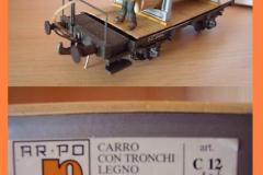 c 12 carro con tronchi legno